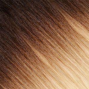 Ombre Strähnen – Braun-Schwarz / Blond-Platin Gold-Beige