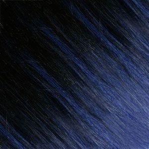 Ombre Strähnen - Braun-Schwarz /  Blau